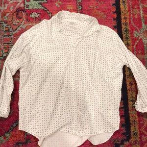 Madewell buttondown dotted shirt
